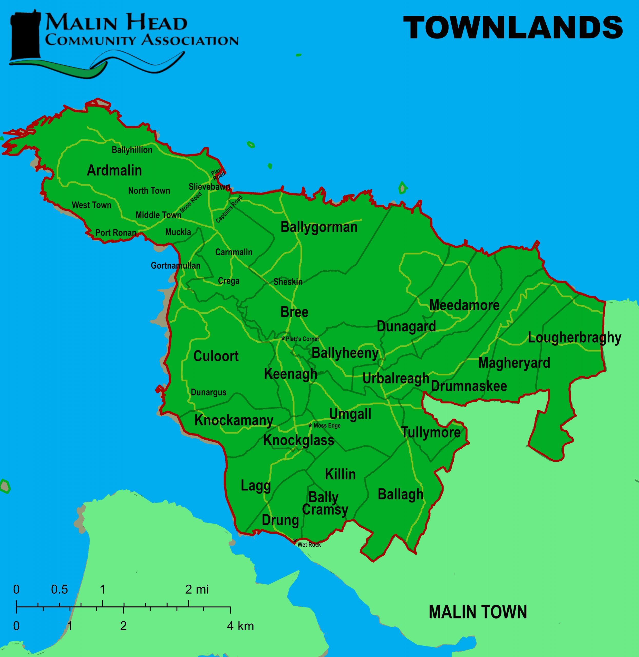 Malin head Townlands Map